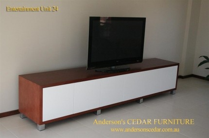 This is a selection of the entertainment units that Denis Anderson has created. If you are interested in having your own custom made entertainment in a timber and style of your choice email Denis on cfurniture@optusnet.com.au or call him at the workshop during business hours on 02 4966 0074.