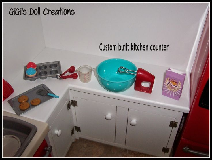 American Girl Doll Kitchen Cabinet Tutorial
