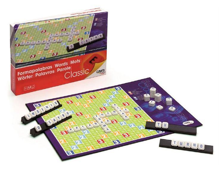 Formapalabras, el clásico juego de las palabras cruzadas en el que se combinan: El azar en la toma de letras  y la habilidad de componer palabras para obtener la  máxima puntuación.  Para niños  desde  los 7 años.