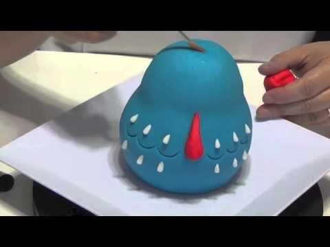 galinha pintadinha ana salinas - YouTube Maneira de fazer do EVA com rice crispies e fondant