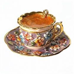 Unique Trinket Boxes: Limog Boxes, 24K Gold, Trinket Boxes, Pills Boxes, Teacup Boxes, Boxes Swarovski, Teas Party, Swarovski Crystals, Gold Jewelry