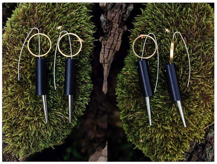 #jewelry #jewellery #earrings #black #moss