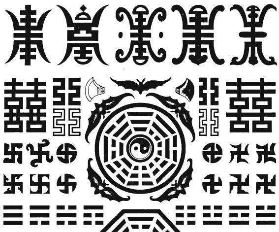 Chinese symbols in Tibetan ornament  Beer, Robert. The Encyslopedia of Tibetan Symbols and Motifs. - Boston: Shambala, 1999.