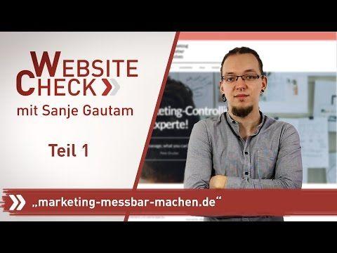 SEO Website Check   www.marketing-messbar-machen.de, Teil 1 - YouTube