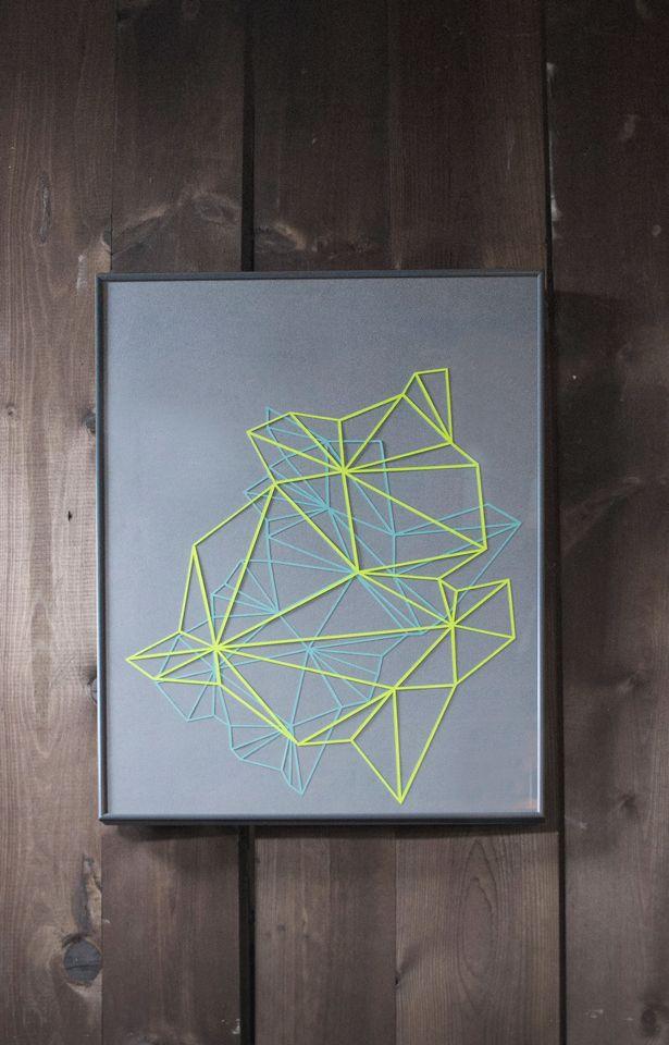 Geometric paper cut composition by Laura Faurschou