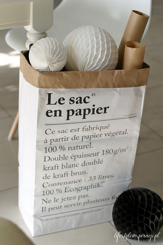 Le sac en papier - papirposen som kan brukes til alt! Se www.multitrend.no - gratis frakt