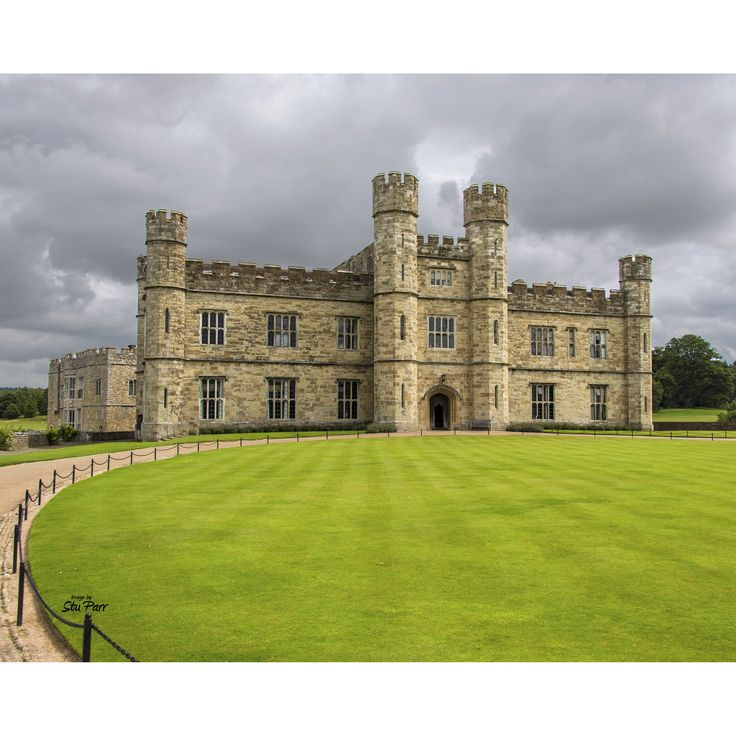 Stewart Parr 'Leeds Castle near Kent, England - view front Cloudy Day' Unframed Photo Print