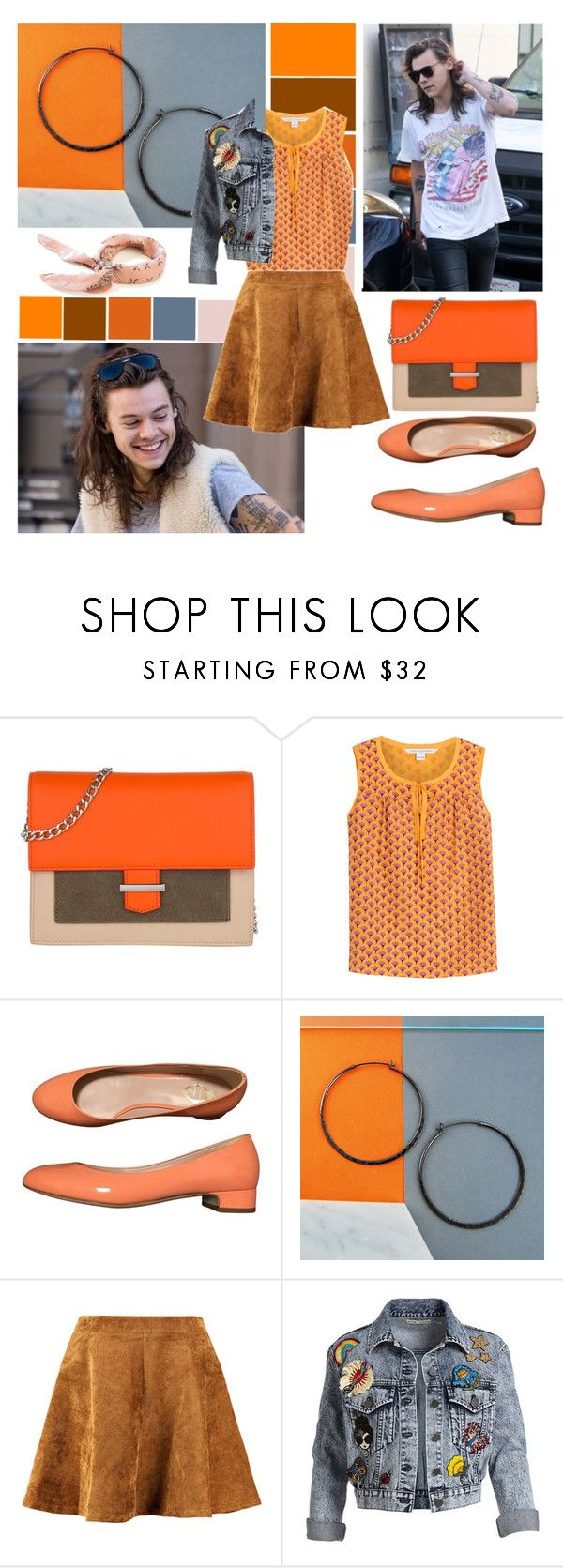 """harry styles' girlfriend's fashion"" by chakayuko ❤ liked on Polyvore featuring HUGO, Diane Von Furstenberg, Unützer, Otis Jaxon, Alice + Olivia, OneDirection, harrystyles and 1d"