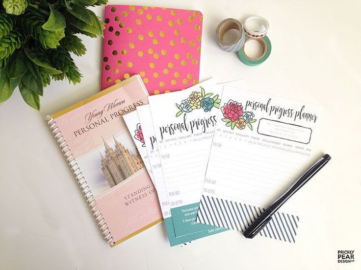These Personal Progress Planner Pages are so great! FREE printable from Prickly Pear.