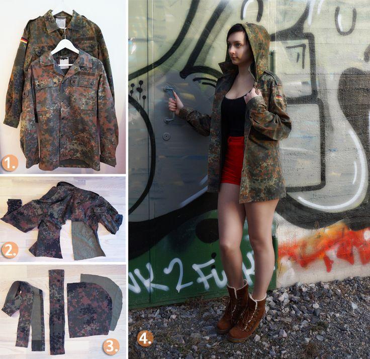 DIY  - Hooded Jacket tutorial http://diy-showroom.com/ullariikka/diy-hooded-jacket/