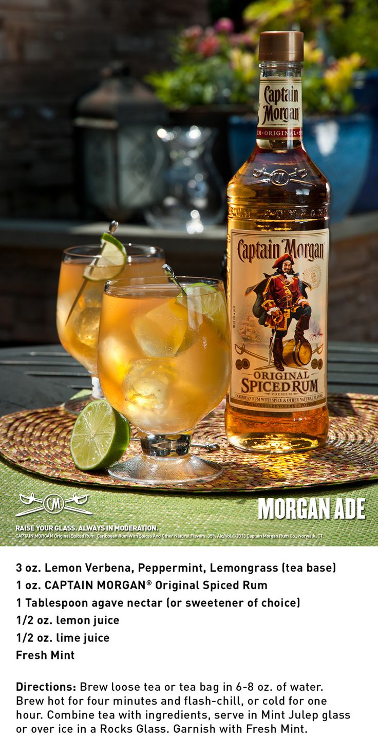 56 best images about captain morgan drinks on pinterest for Mix spiced rum with