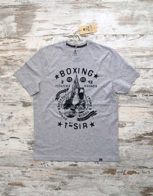 T-SIR Boxing t-shirt. Inspired in John L. Sullivan and modern boxing. 100% cotton t-shirt. Punch knockout, kiss the canvas, blood & sweat.