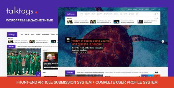 Talktags - #WordPress #Magazine #Theme + Front-end Article Submission - News / Editorial #Blog / Magazine