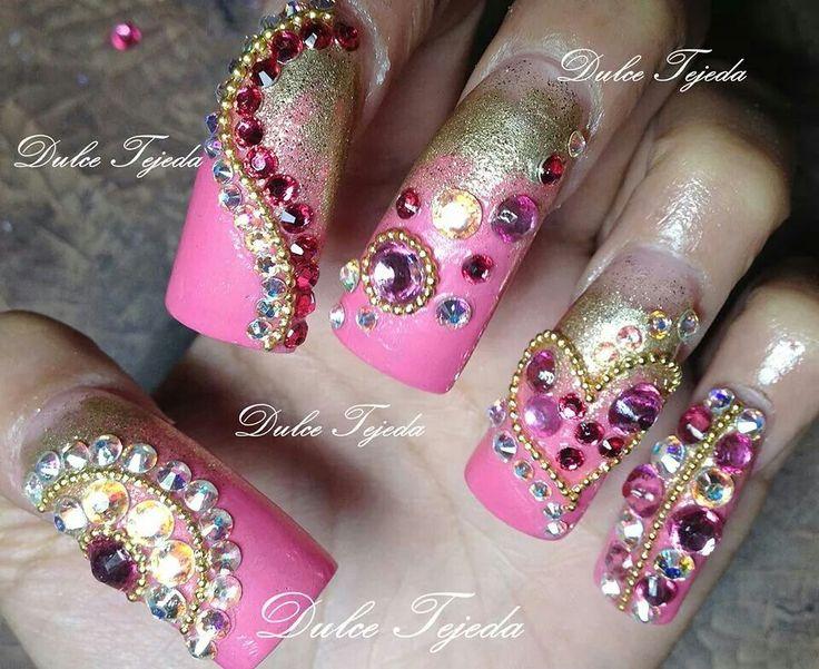 Sinaloa nails style  Dulce Tejeda Buchoncitas.