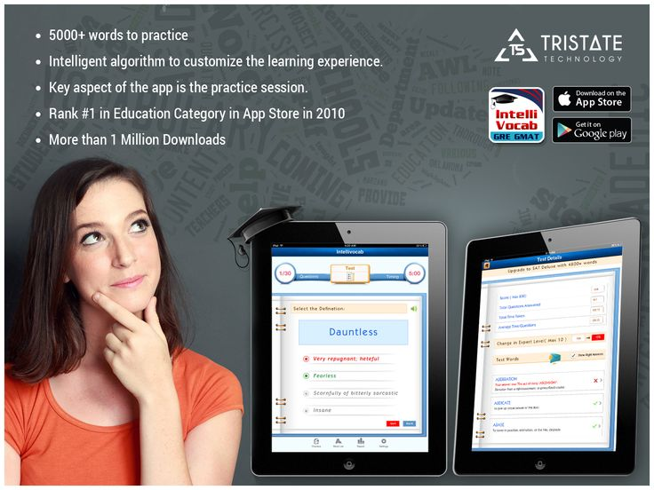 "TriState Technology developed iphone application named ""IntelliVocab""."
