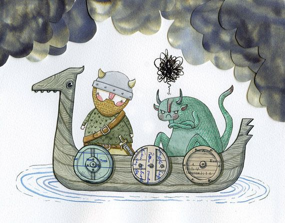 ELDRIC e la Spada vichinga, #illustration di Hannakin Genius!