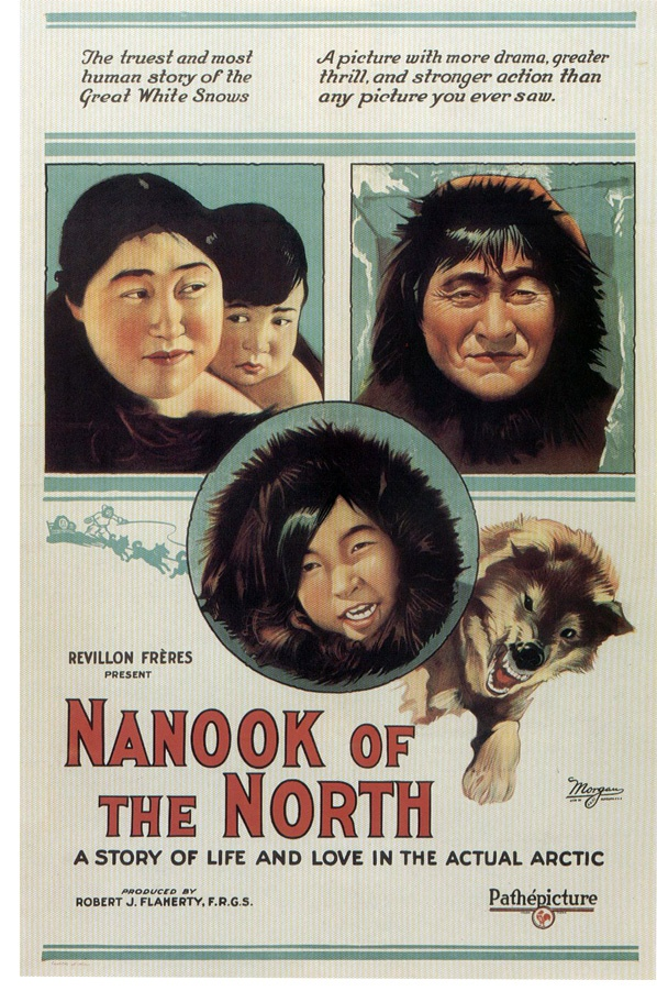 Nanook Of The North.....1922: In this silent-film predecessor to the modern documentary, filmmaker Robert J. Flaherty spends one year following the lives of Nanook and his family, Inuit Eskimos living in the Arctic Circle.