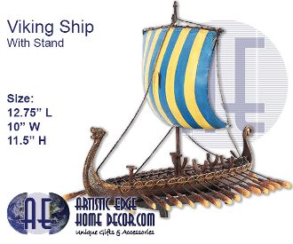 Viking Ship With Stand