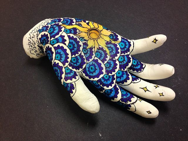 Mehndi Hands Art Lesson : Best images about hand and arm sculptures on pinterest