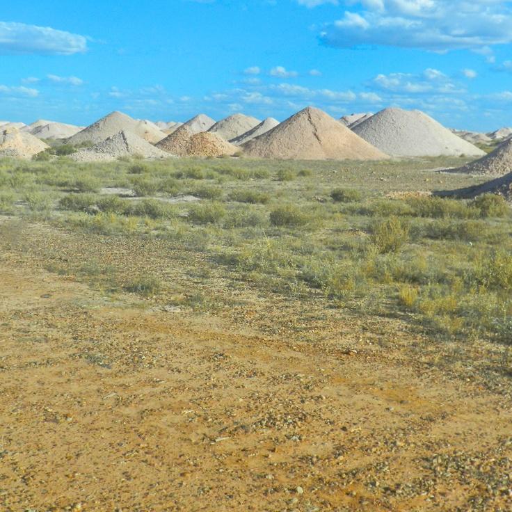 Coober Pedy is an opal mining town