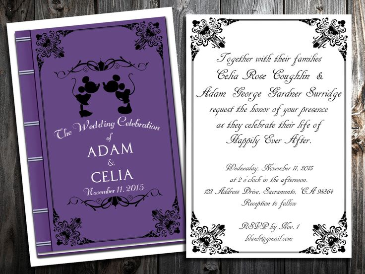 Disney Wedding Invitation Wording: 89 Best Images About Disney