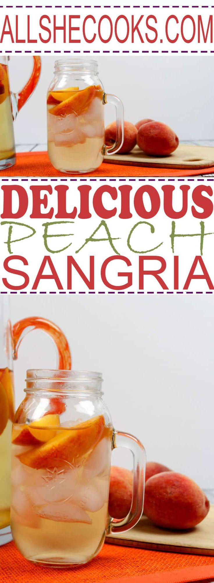 You'll love tasty sangria summer recipe. This Peach Sangria is the perfect sparkling white wine sangria recipe.