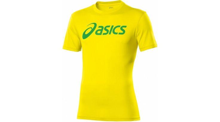 Asics SS Tee felső sárga unisex póló