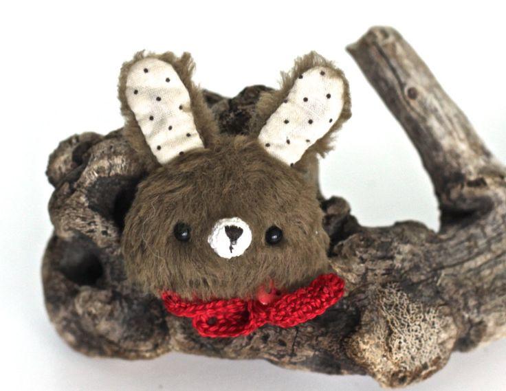 Hare brooch stuffed pin hare rabbit toys animal pin badge hare brooch label pin toy teddy totem bear art doll artist teddy bear hare brooch by KodamaLife on Etsy
