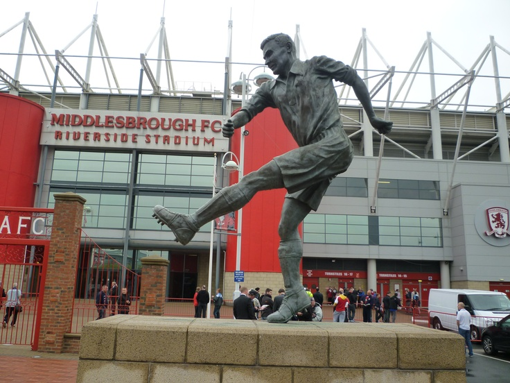 Wilf Mannion at The Riverside, home of Middlesbrough FC.