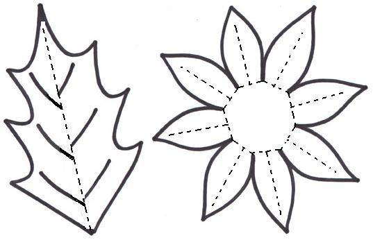 Plantillas flores papel - Imagui