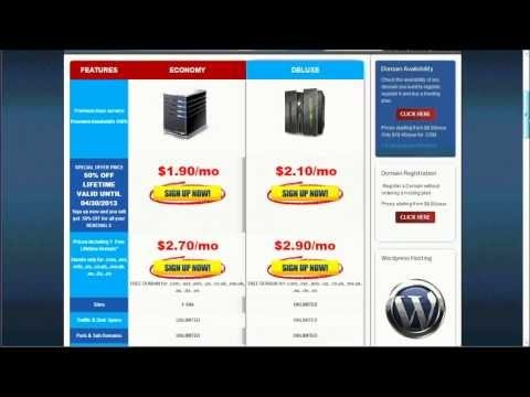 Get web hosting and domain name in 3 minutes!
