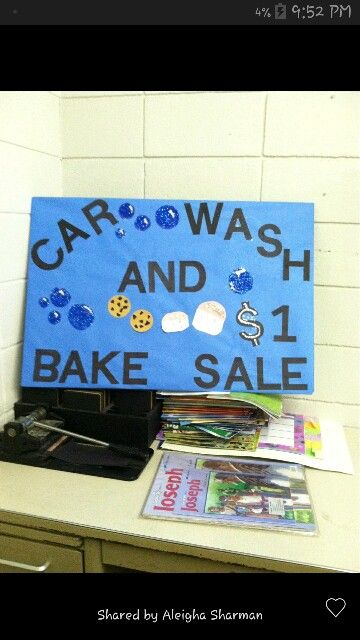 Car wash signs for the Youth fundraiser tomorrow!