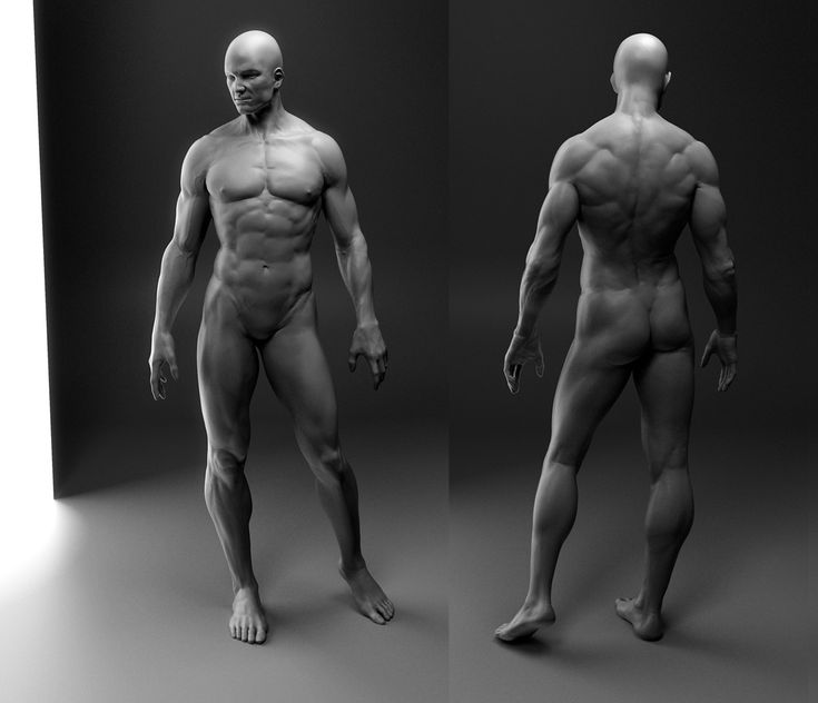 Impressive male body #sculpting using #ZBrush. Author: flcl38