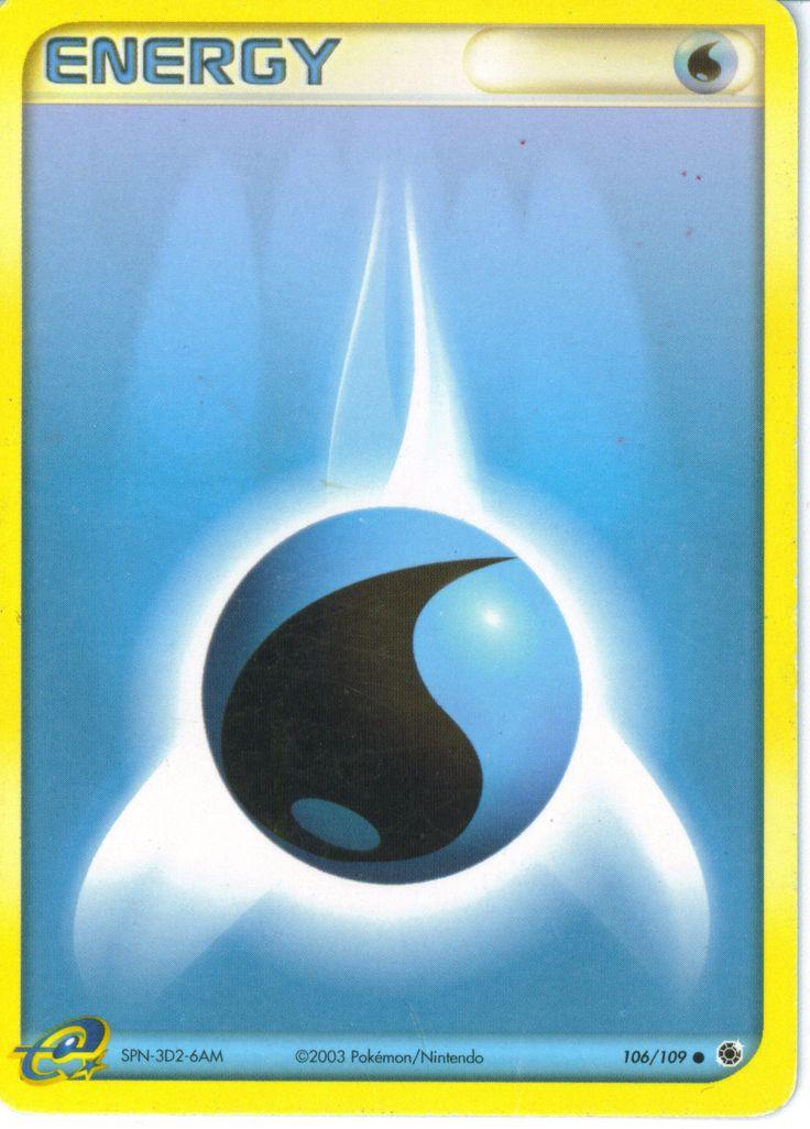 Pokemon Tcg Water Energy Card Energy Pinterest Water Energy And Pok 233 Mon