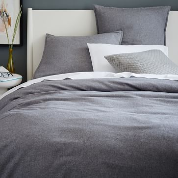 Flannel Duvet Cover + Shams #westelm                                                                                                                                                                                 More