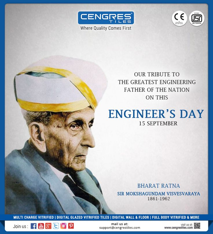 """Remember, Your Work May be only to Sweep a Railway Crossing, But It is Your Duty to Keep it so Clean that no Other Crossing in the World is as Clean as Yours"" -- Sir M. Visvesvaraya  #Happy #EngineersDay #SirMVisvesvaraya #Visvesvaraya #Bharat #Ratna"