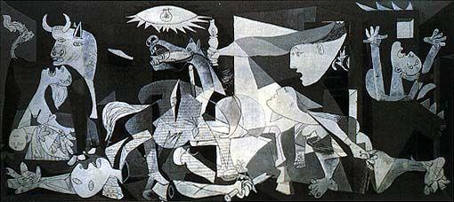 Guernica, 1937, olio su tela, Museo Nacional Centro de Arte Reina Sofia, Madrid