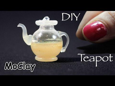 Diy miniature Glass Teapot - Dollhouse miniatures - YouTube