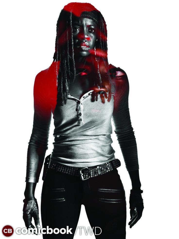 The Walking Dead Season 7 Character Portraits | Danai Gurira as Michonne - The Walking Dead _ Season 7, Gallery – Photo Credit: Frank Ockenfels 3/AMC #TWD #Michonne