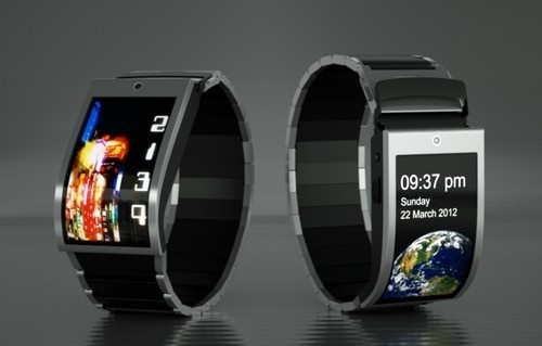 Futuristic Watch Phone. Wonder how to answer calls bc I thought it would look weird but this is still cool.