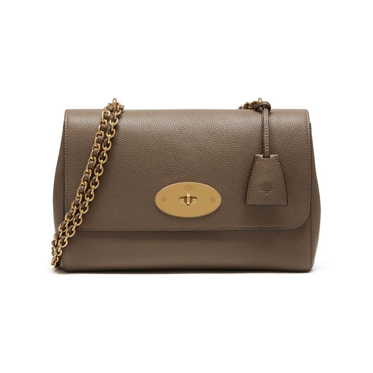 Shop the Medium Lily in Clay Small Classic Grain Leather at Mulberry.com. The Medium Lily is the larger version of the effortlessly elegant Lily bag. It has the same woven leather and chain strap, which can be worn short or long, and is finished with signature details such as the postman's lock and leather padlock fob.