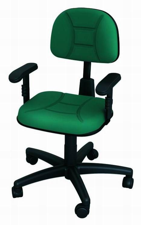 Cadeira Back System Secretaria Costurada Escritório Ergonomica
