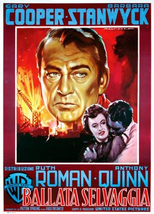 BLOWING WILD (1953) - Gary Cooper - Barbara Stanwyck - Ruth Roman - Anthony Quinn - Warner Bros. - French movie poster.