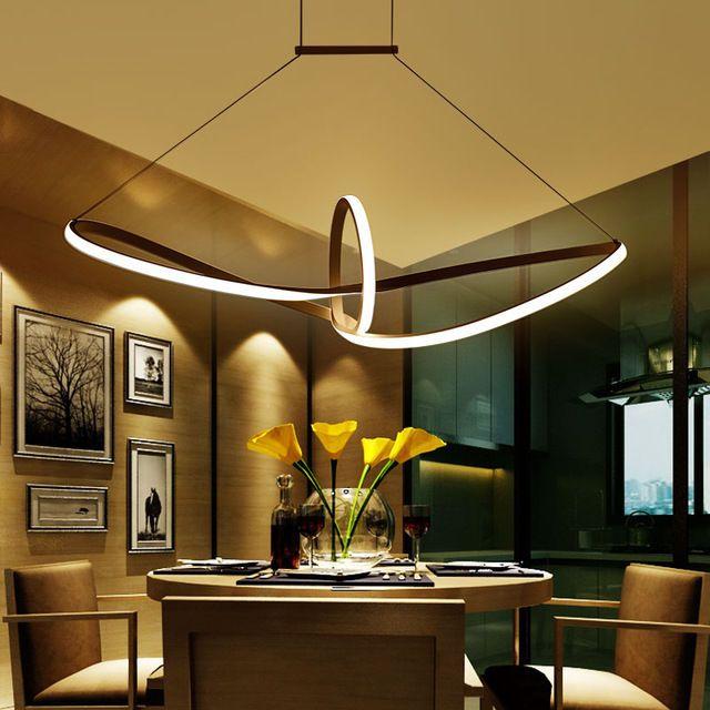 modern led pendant aluminium suspended dining room living room lighting lamp - Led Dining Room Lighting