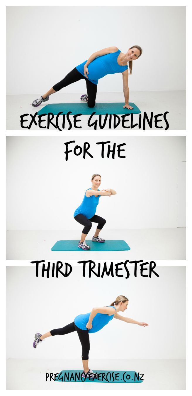 exercise guidelines third trimester
