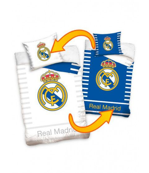 This Real Madrid CF Reversible Single Cotton Duvet Cover Set features the famous Real Madrid club crest. Free UK delivery available.