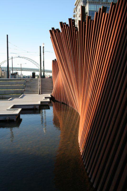 Tanner Springs Park, Portland, OR designed by Atelier Dreiseitl