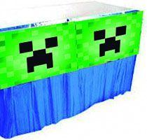 Saia Babado para Decoração de Mesa  Minecraft Creeper
