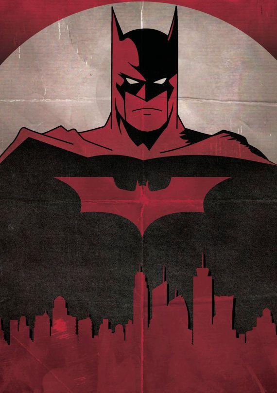 Batman The Dark Knight minimalist Poster / by ExtremepandaDesign ___ XLIV ___