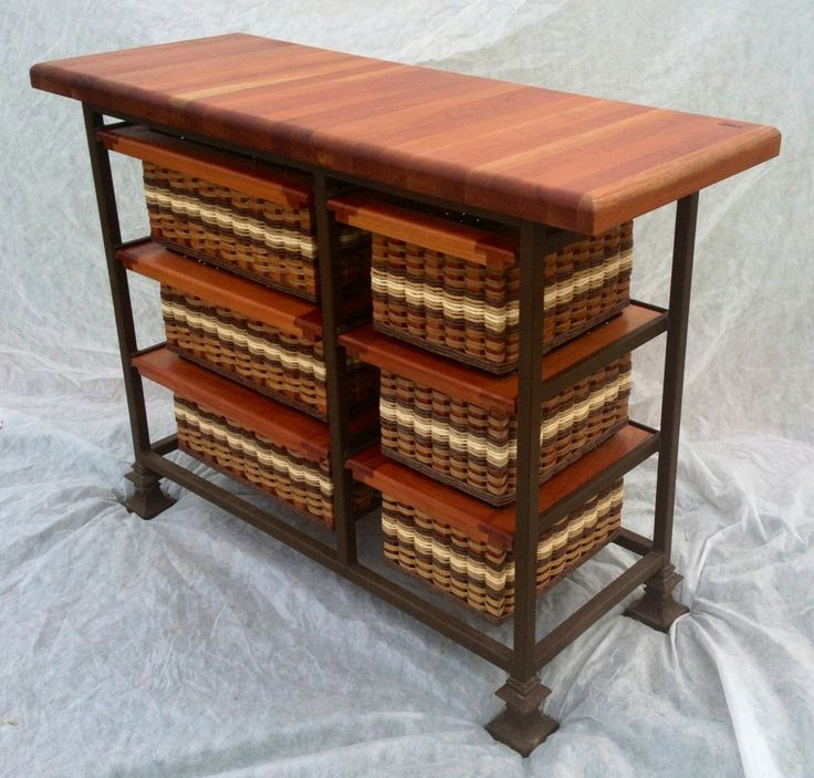 Island-19x48 Small six drawer. If you need something long and skinny for your kitchen then this unit will help you out! It has 3 small basket drawers and 3 large basket drawers. Choose your colors!